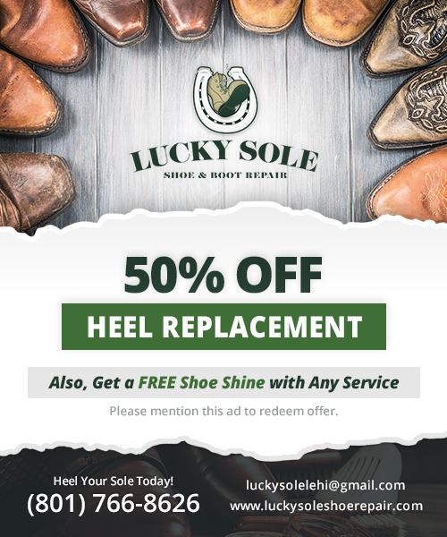LuckySoulShoeRepair – Web Ad (500×600)